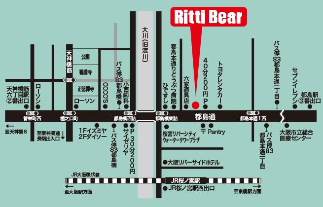 リッティベアへの地図